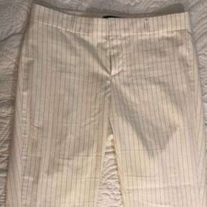 White striped summer work pants